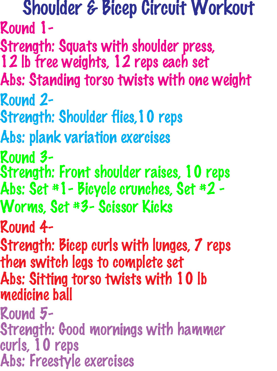 A Few of This Week's Workouts