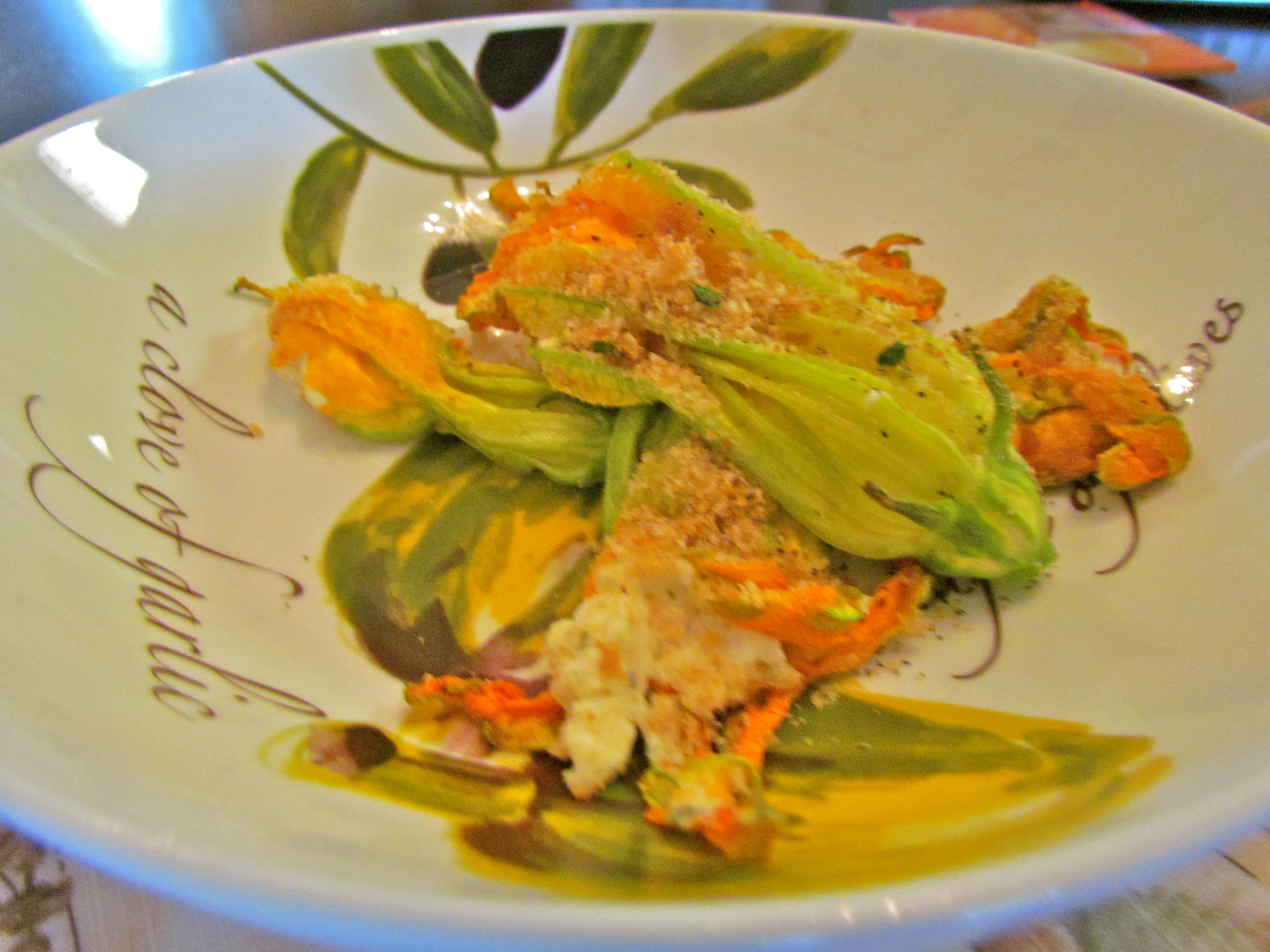 lemony goat cheese stuffed zucchini blossoms foodie loves fitness