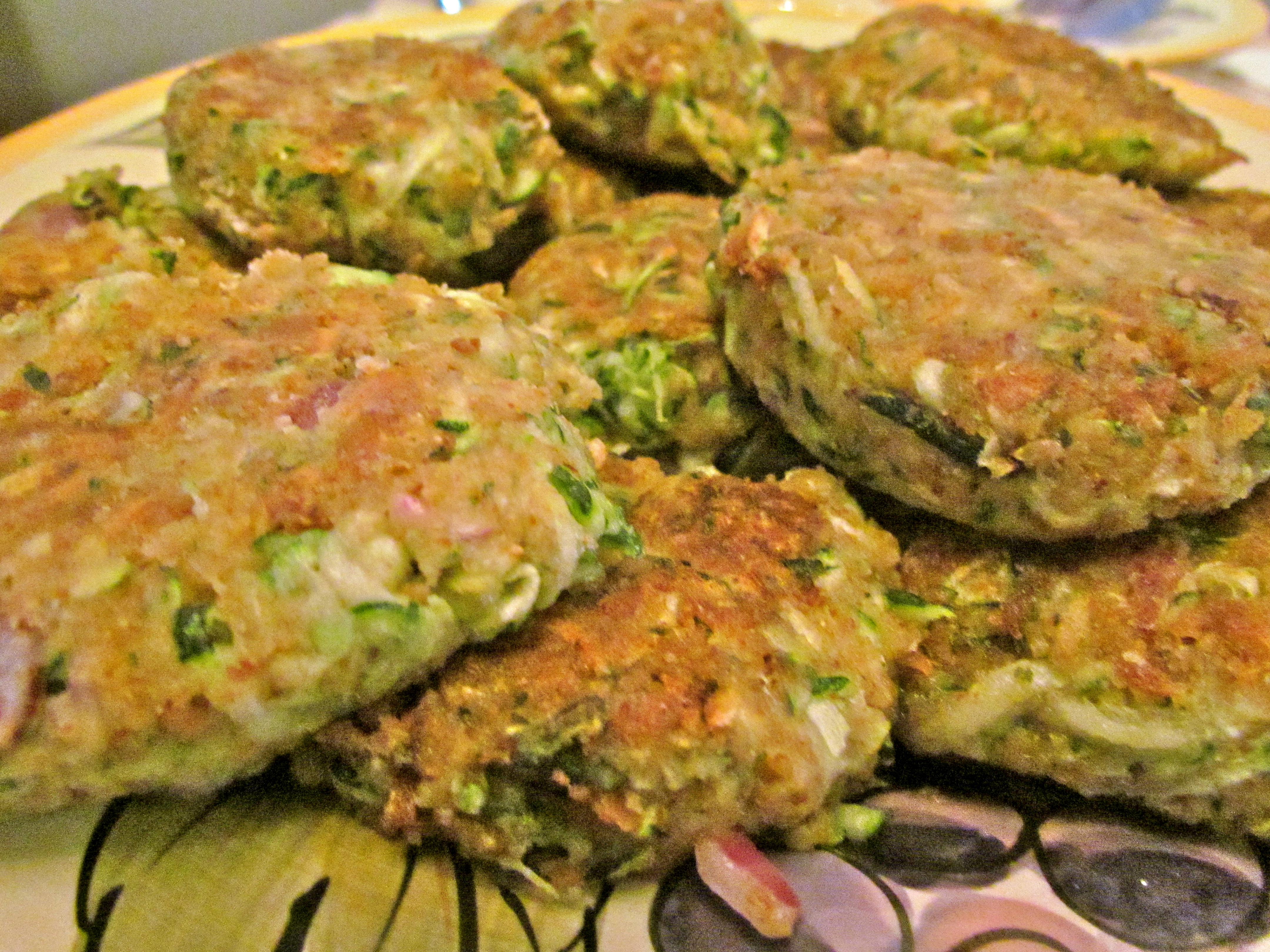 What some people refer to as vegetarian crab cakes – zucchini cakes ...