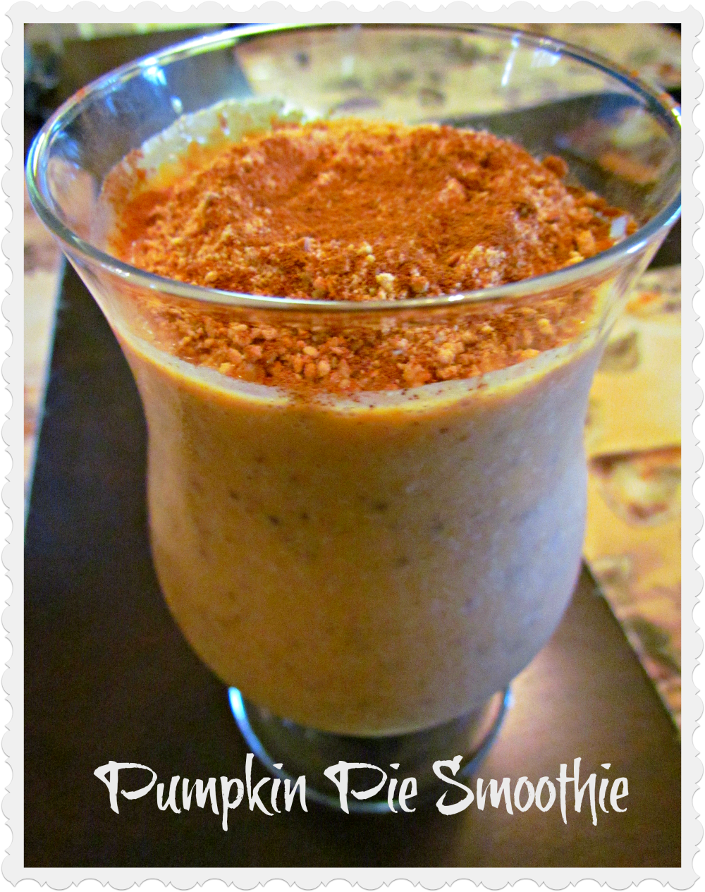 Pumpkin Pie Smoothie (Take 2) + Blog Update!