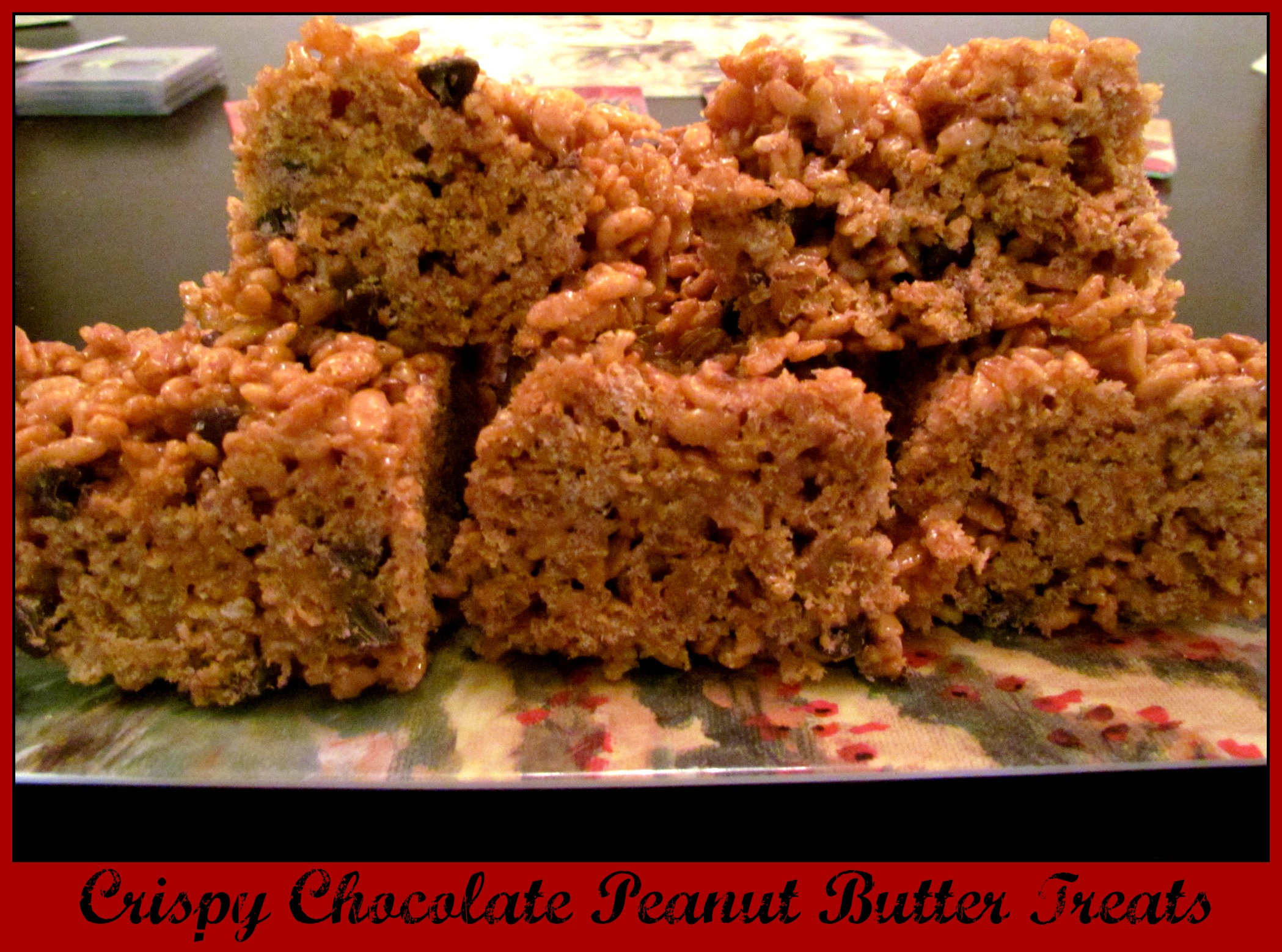 Crispy Chocolate Chip Peanut Butter Treats