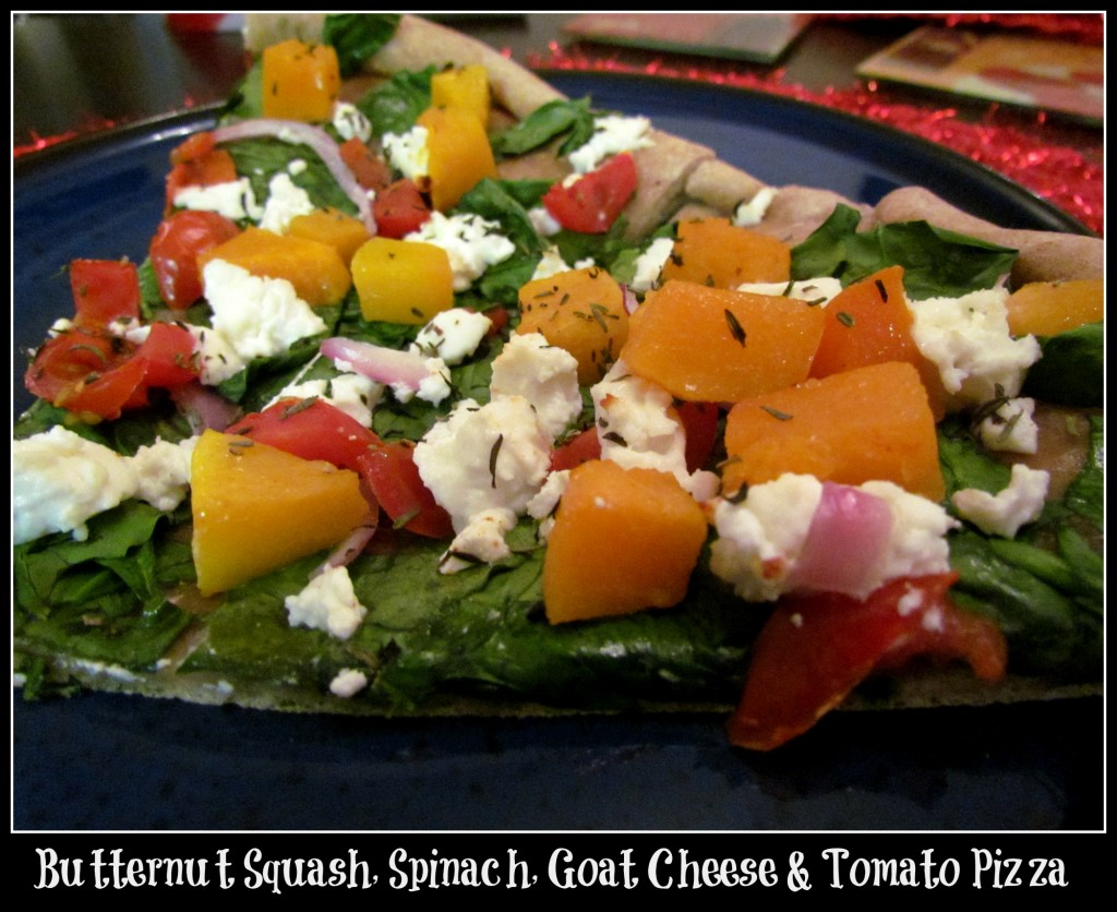 Butternut Squash, Spinach, Goat Cheese & Tomato Pizza - Foodie Loves ...
