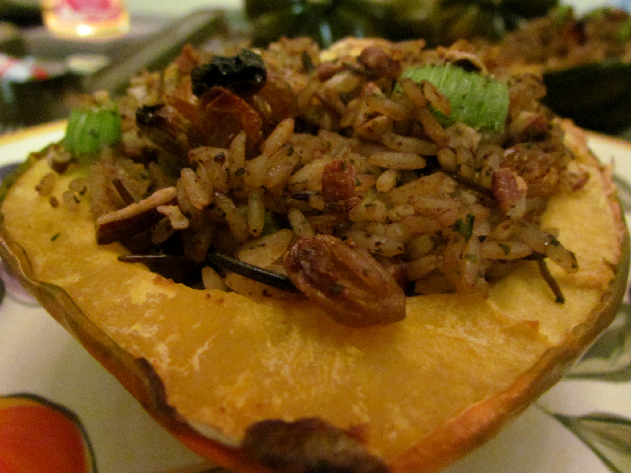 Harvest-Stuffed Acorn Squash