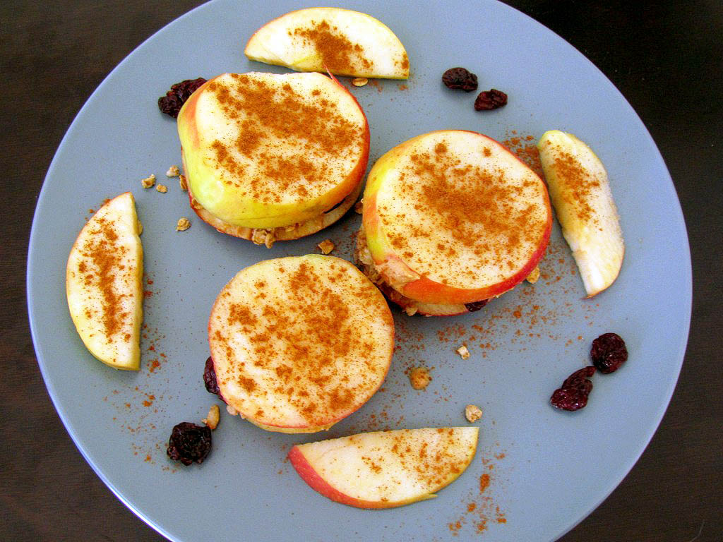 Apple PB Sandwiches
