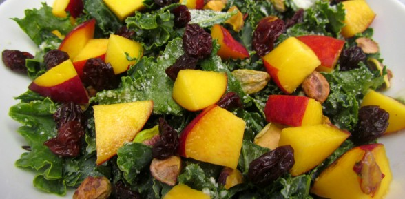 Fruity Kale Salad with Pistachios