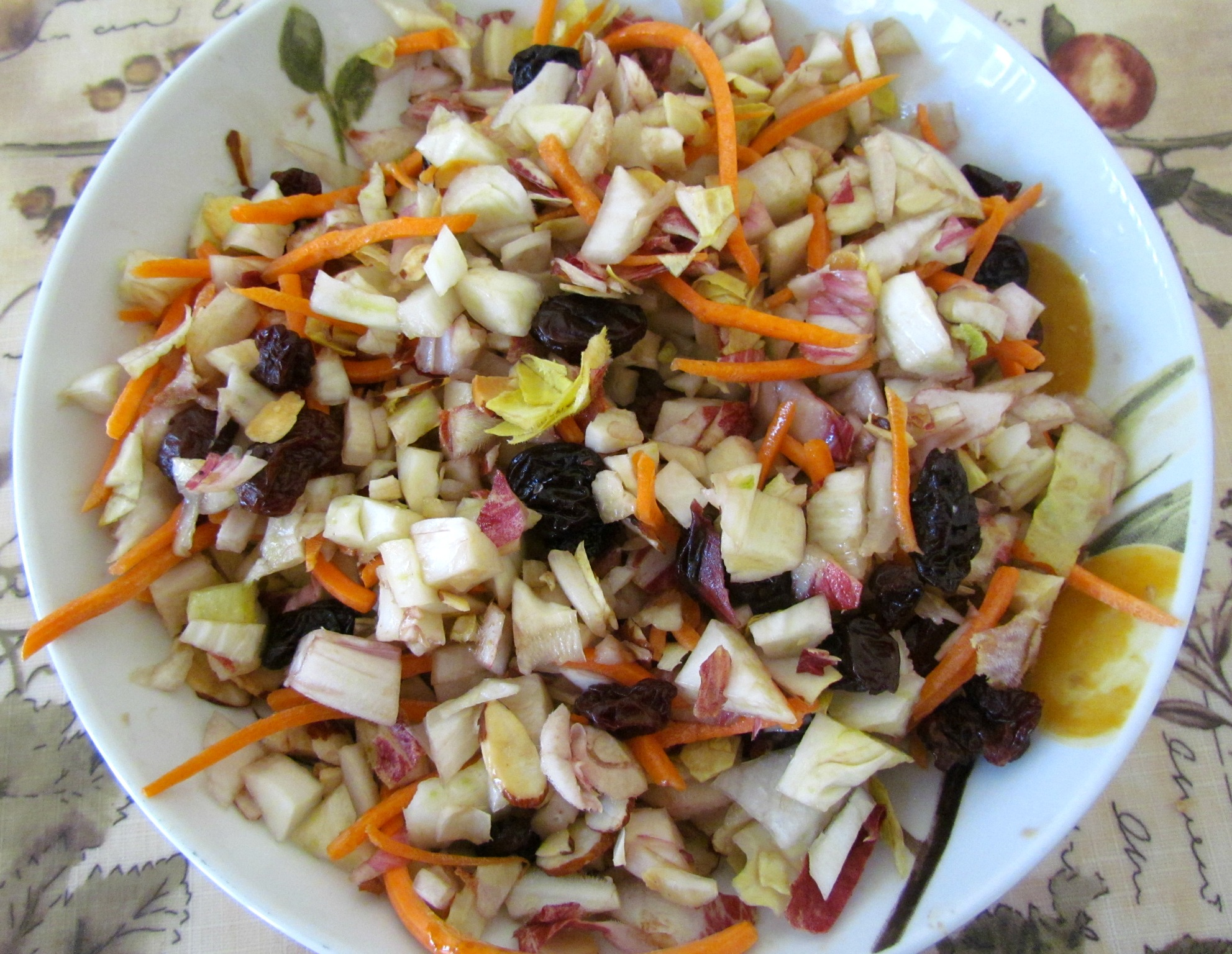 Fennel & Endive Salad with Almonds -n- Cherries