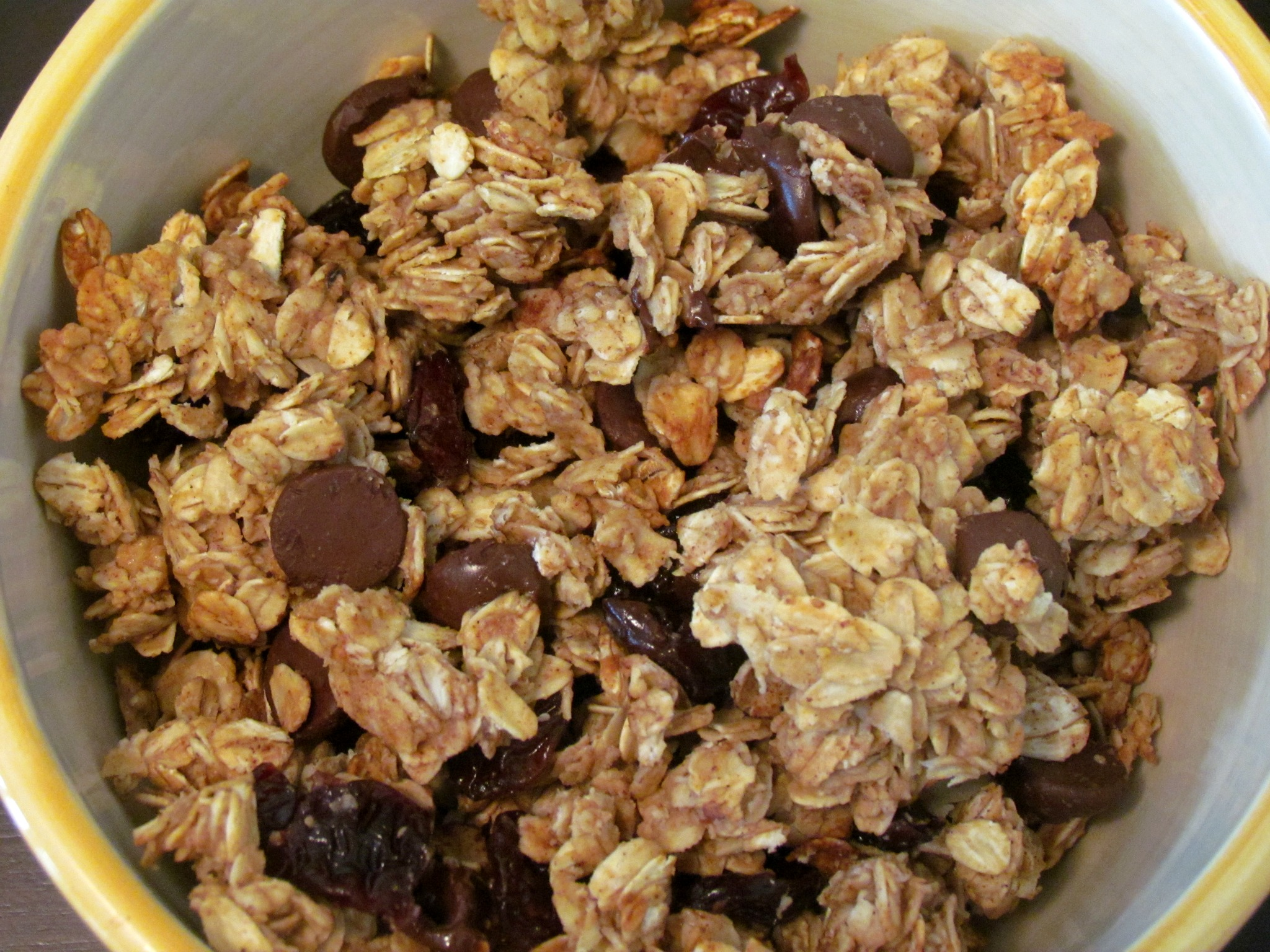 Dark Chocolate Cherry Almond Butter Granola