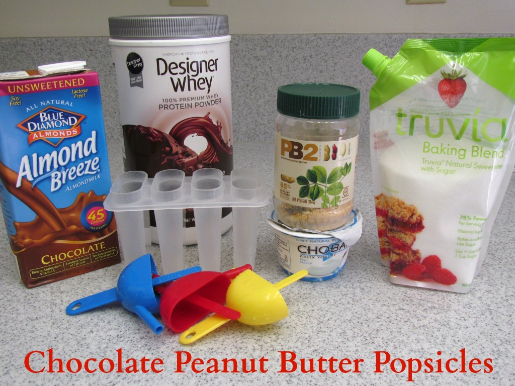 Chocolate Peanut Butter Protein Popsicles - Foodie Loves Fitness