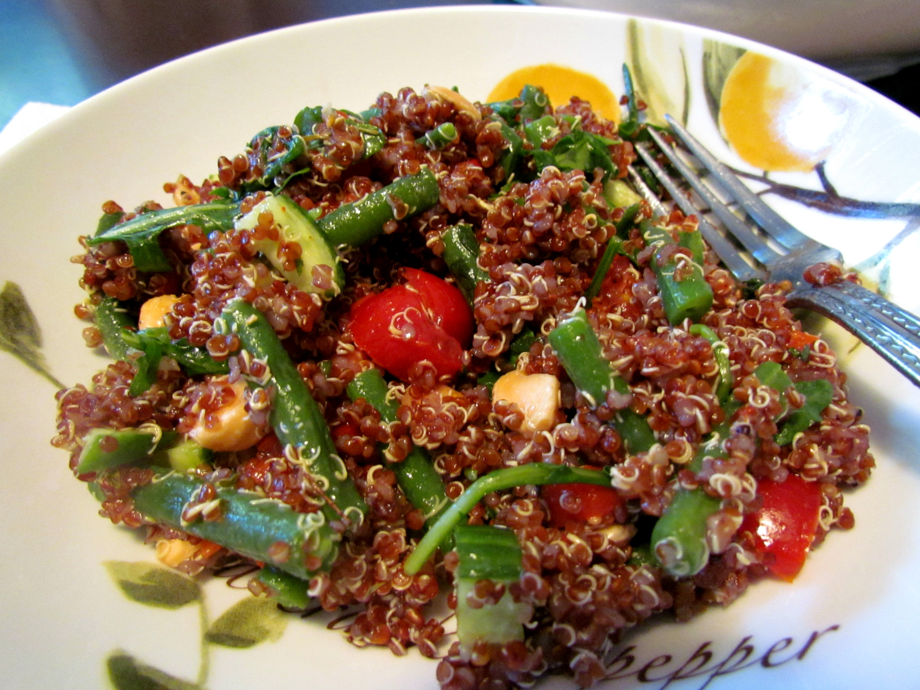 Quinoa Green Bean Salad with Marcona Almonds