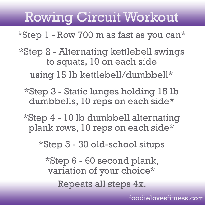 Total Body Rowing Circuit Workout