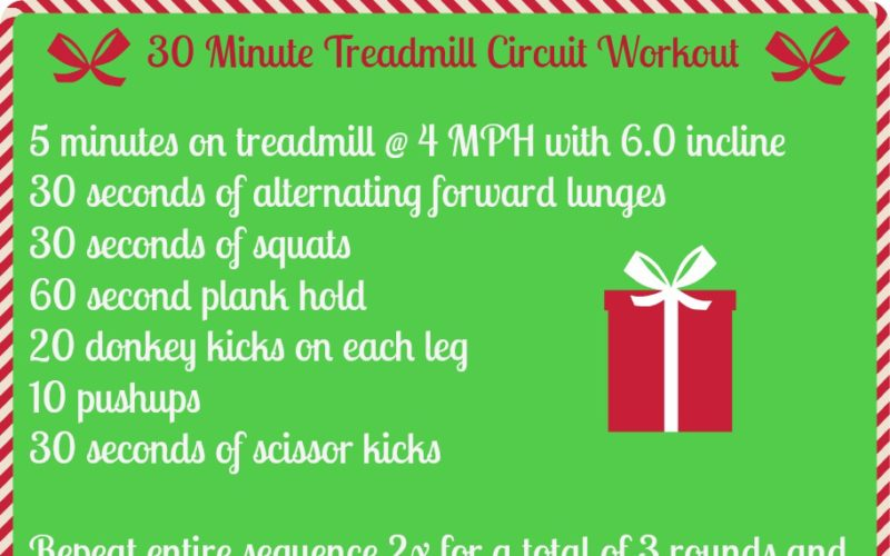 30 Minute Treadmill Circuit Workout