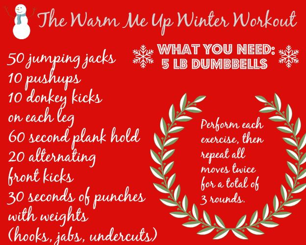 Work it Out Wednesday: The 20-Minute Warm Me Up Winter Workout