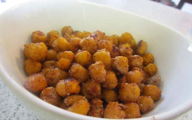 Sweet 'n Salty Roasted Chickpeas