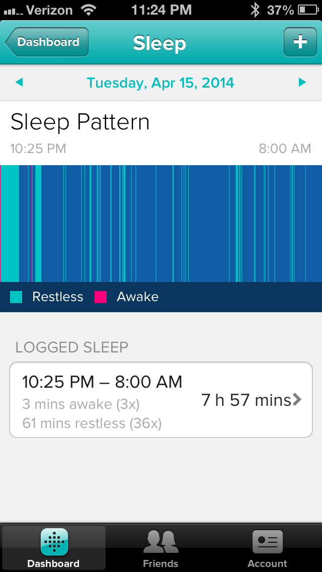 FitBit Sleep Shot