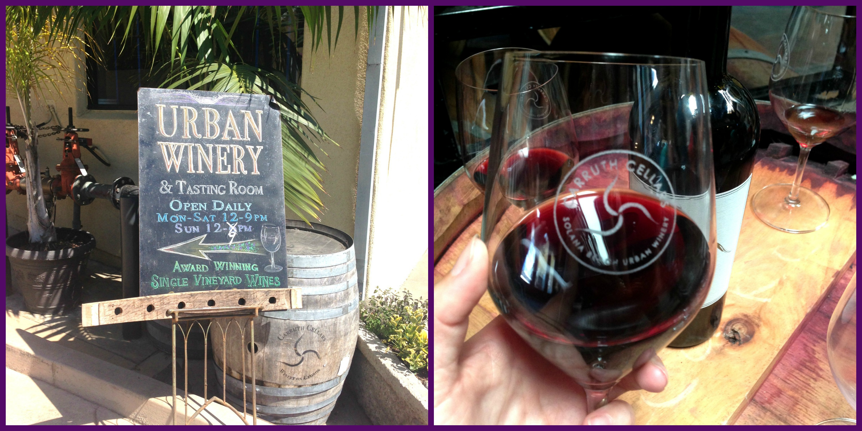 Carruth Winery collage