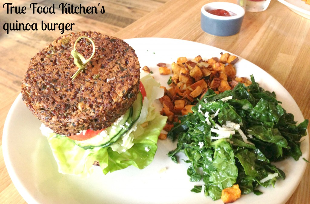 True Food-quinoa burger