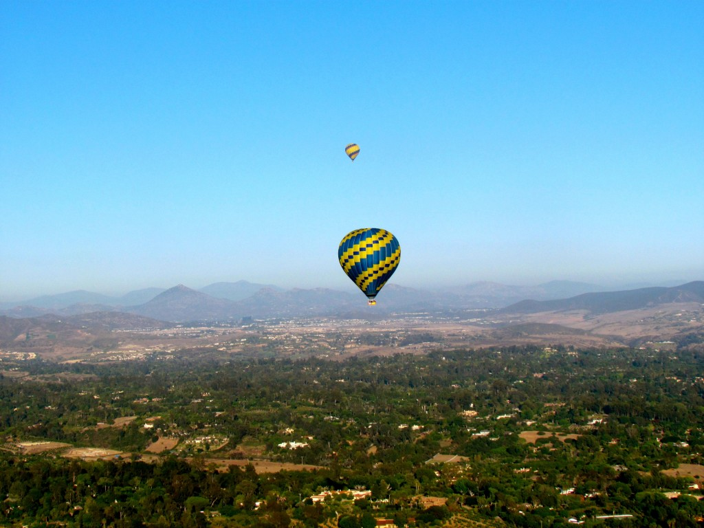 Hot air balloon riding on my birthday in 2011