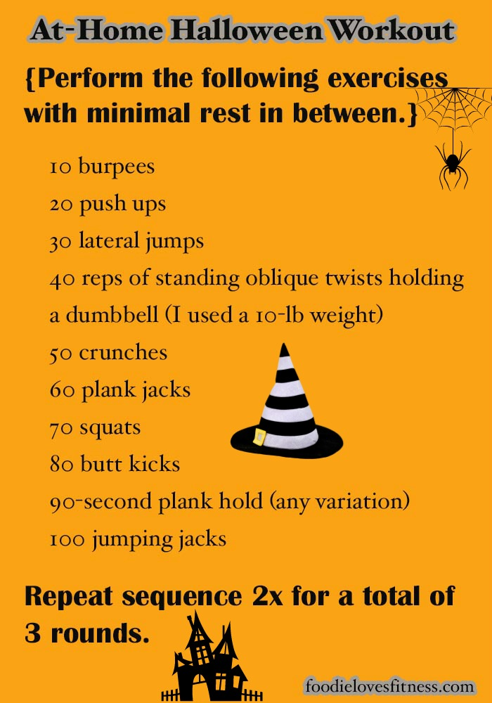 At Home Halloween Workout