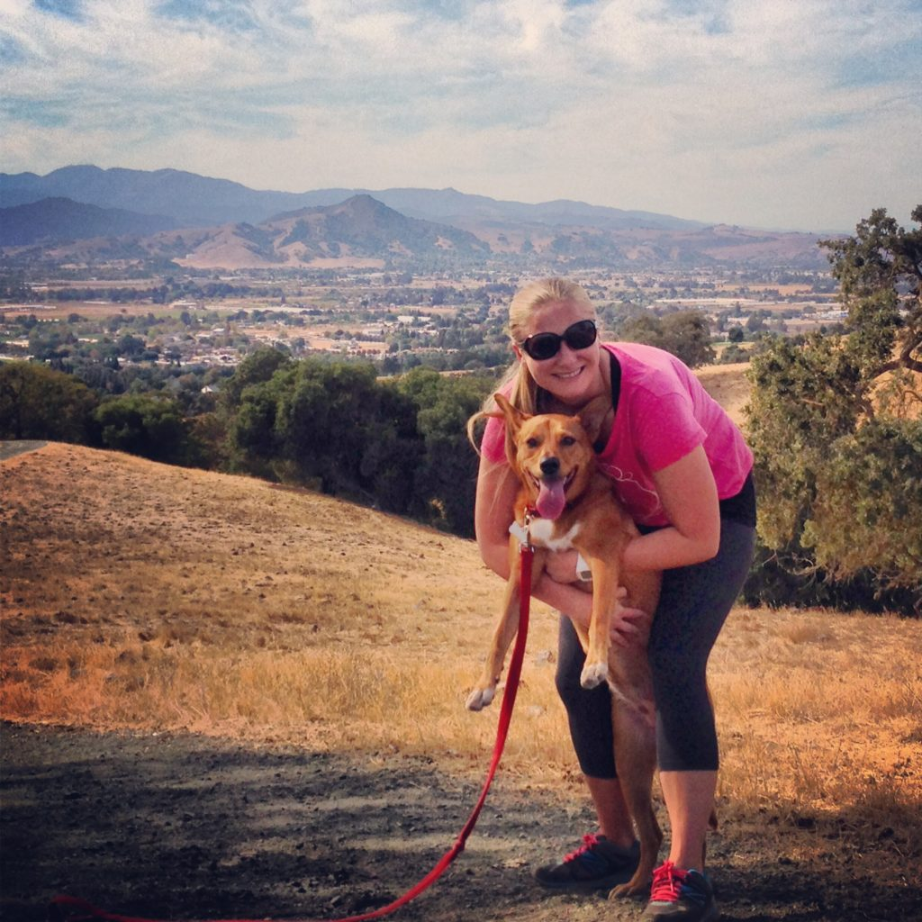 Hitting the trails with my hiking partner