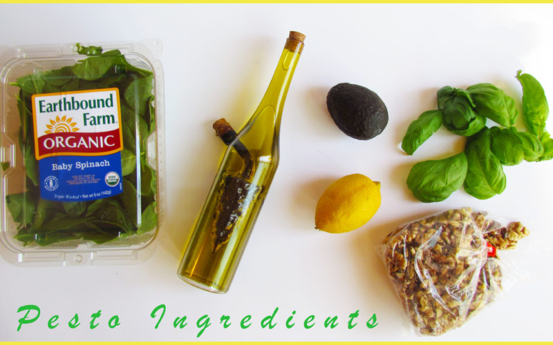 Avocado, Spinach & Walnut Pesto Pasta