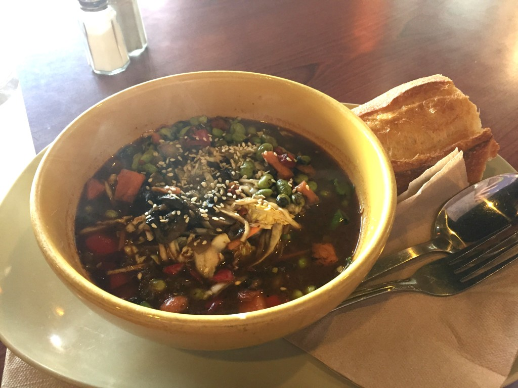 My favorite Panera meal recently: edamame soba noodle broth bowl