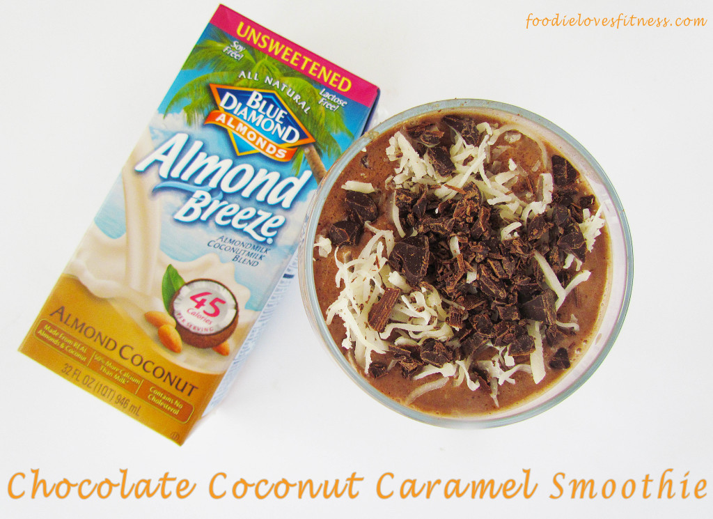 chocolate coconut caramel smoothie-1