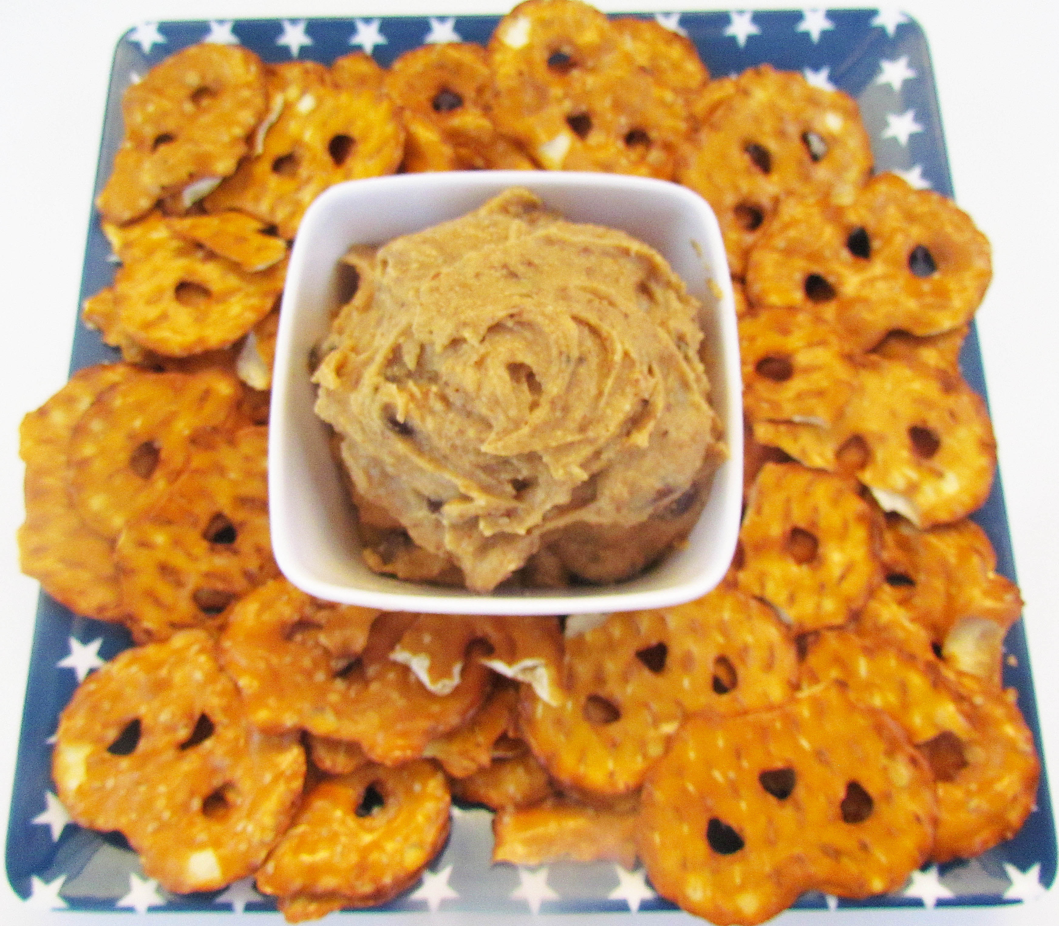 Chocolate Chip Almond Butter Cookie Dough Pretzel Dip - Foodie ...