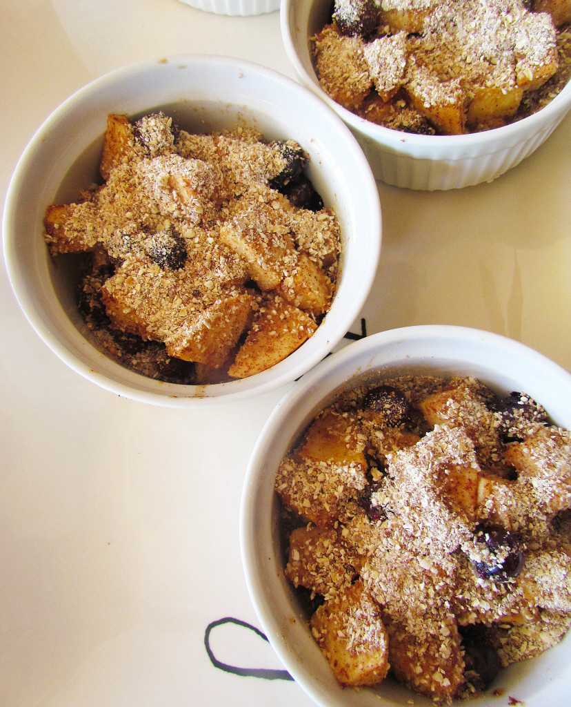 Apple Blueberry Ramekin Crisps
