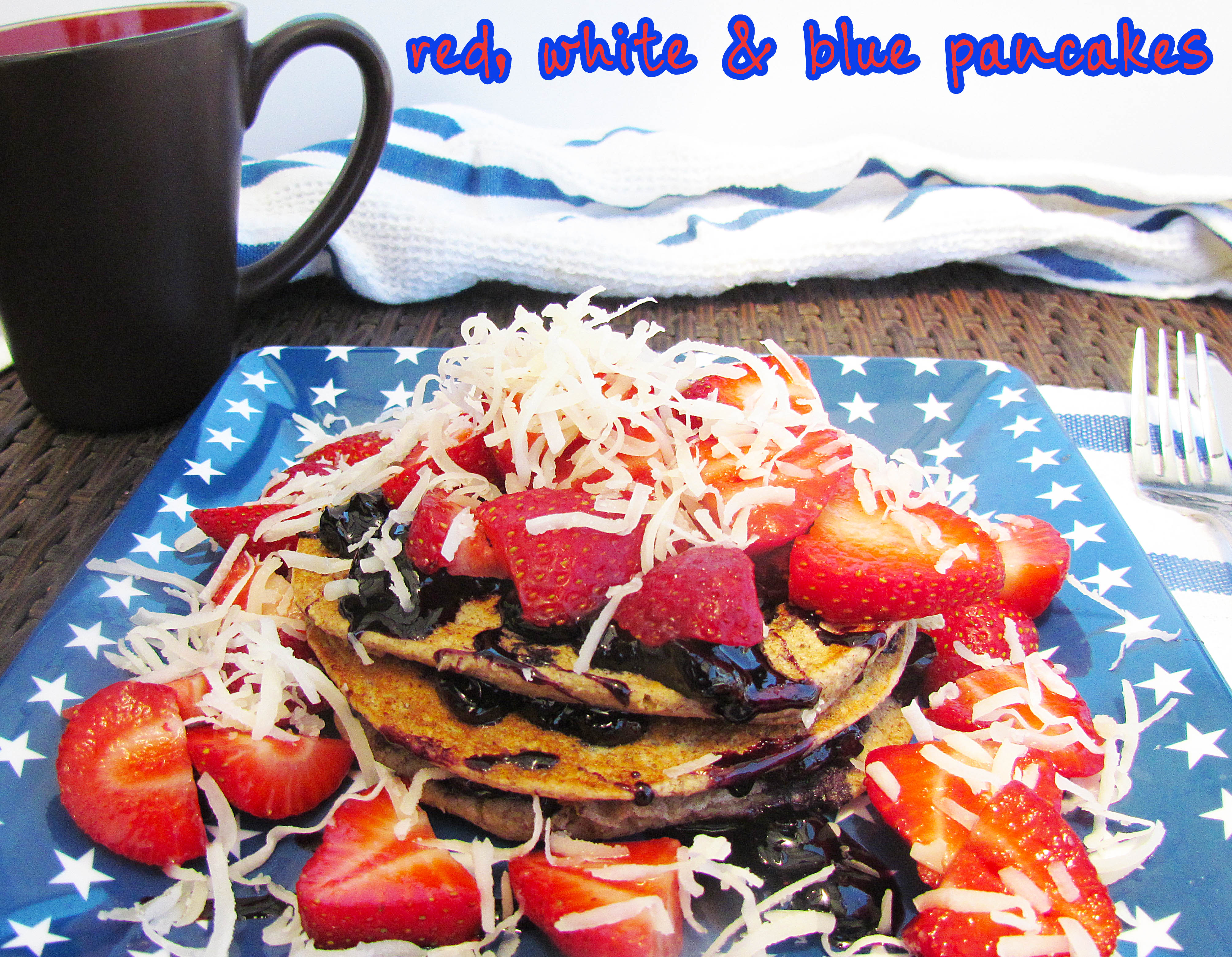 Red, White & Blue Pancakes [Vegan & Gluten Free]