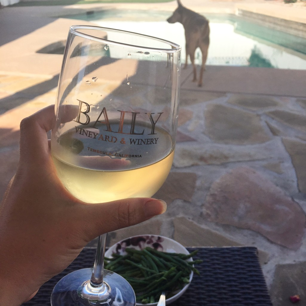 chardonnay on the patio