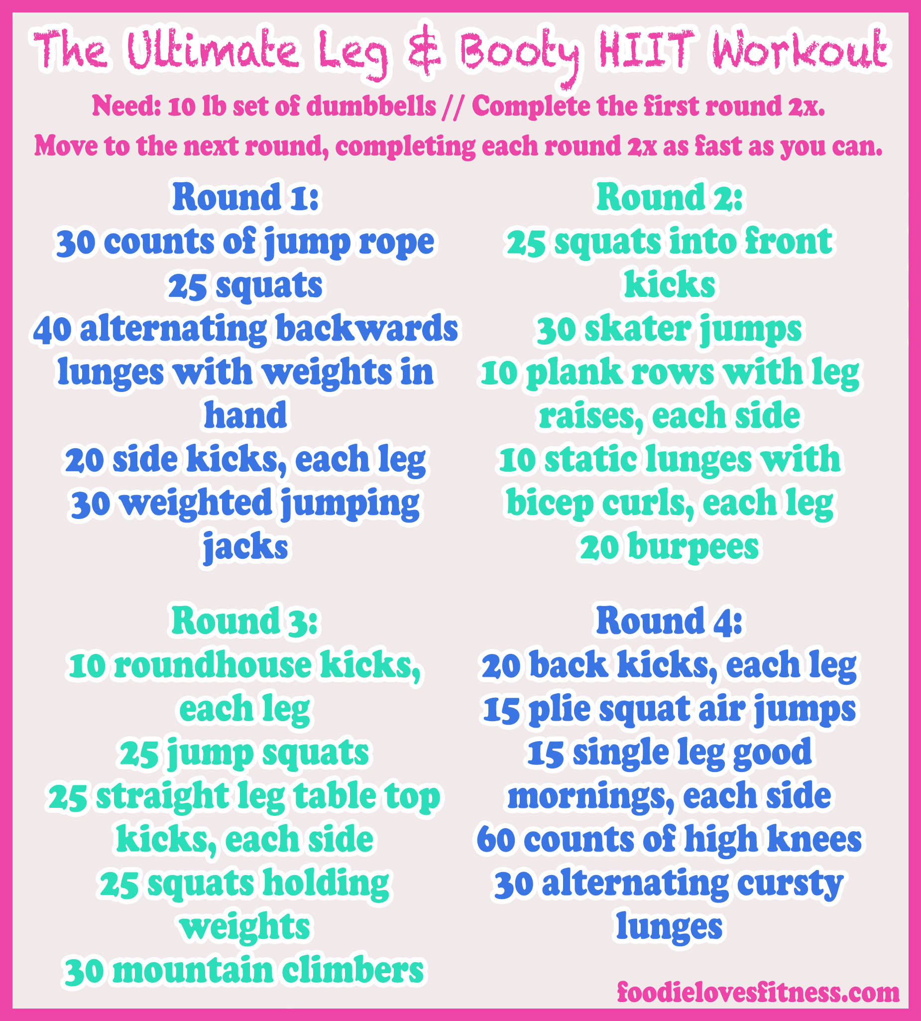 The Ultimate Leg & Booty HIIT Workout