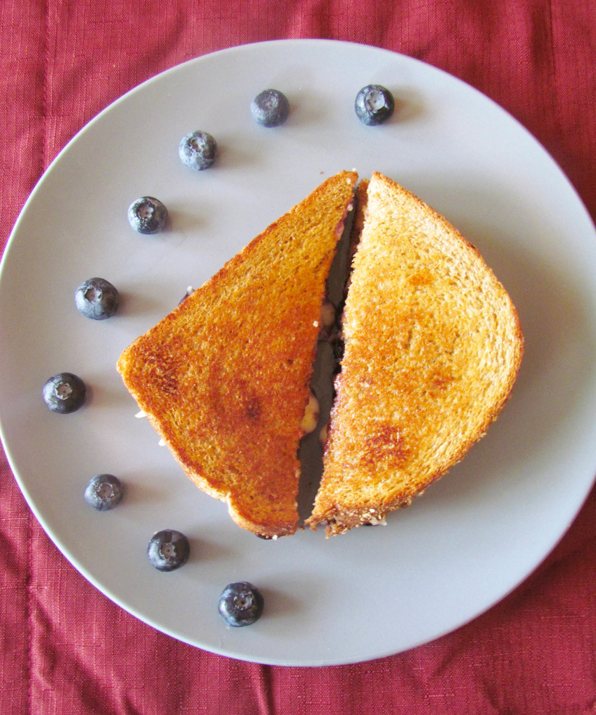 maple blueberry grilled cheese
