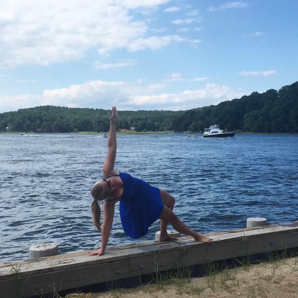 Side planking along the Navesink River