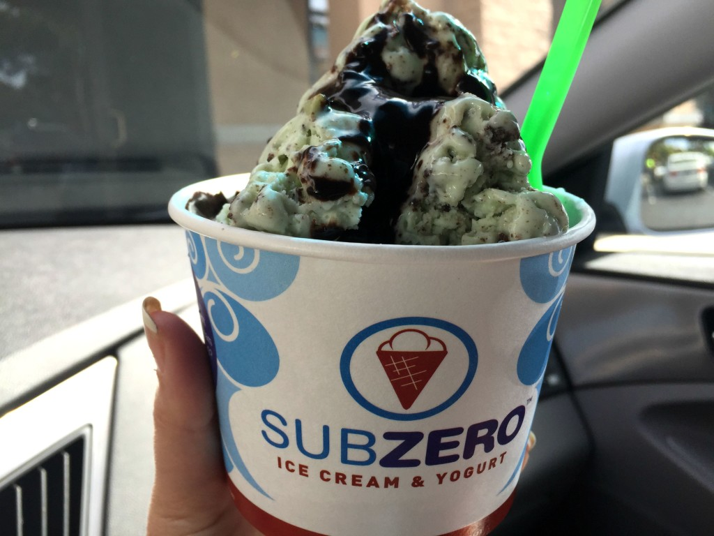 Sub Zero mint ice cream