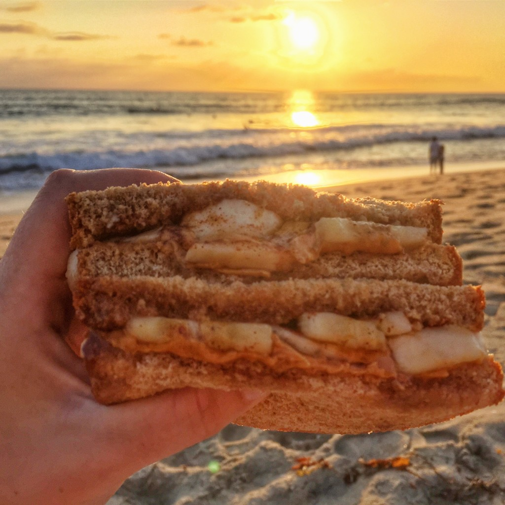 banana pb sammy on the beach