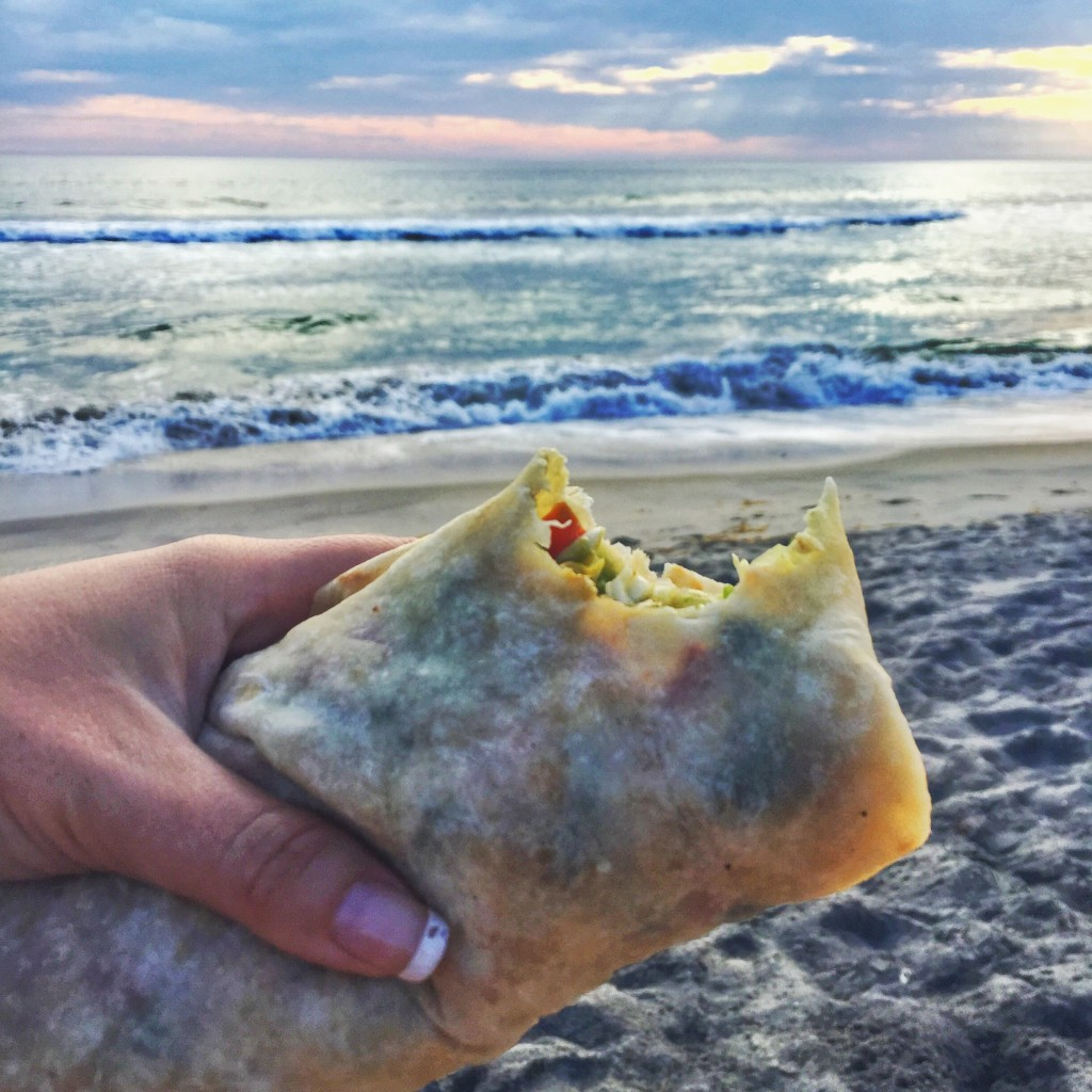 burrito on the beach