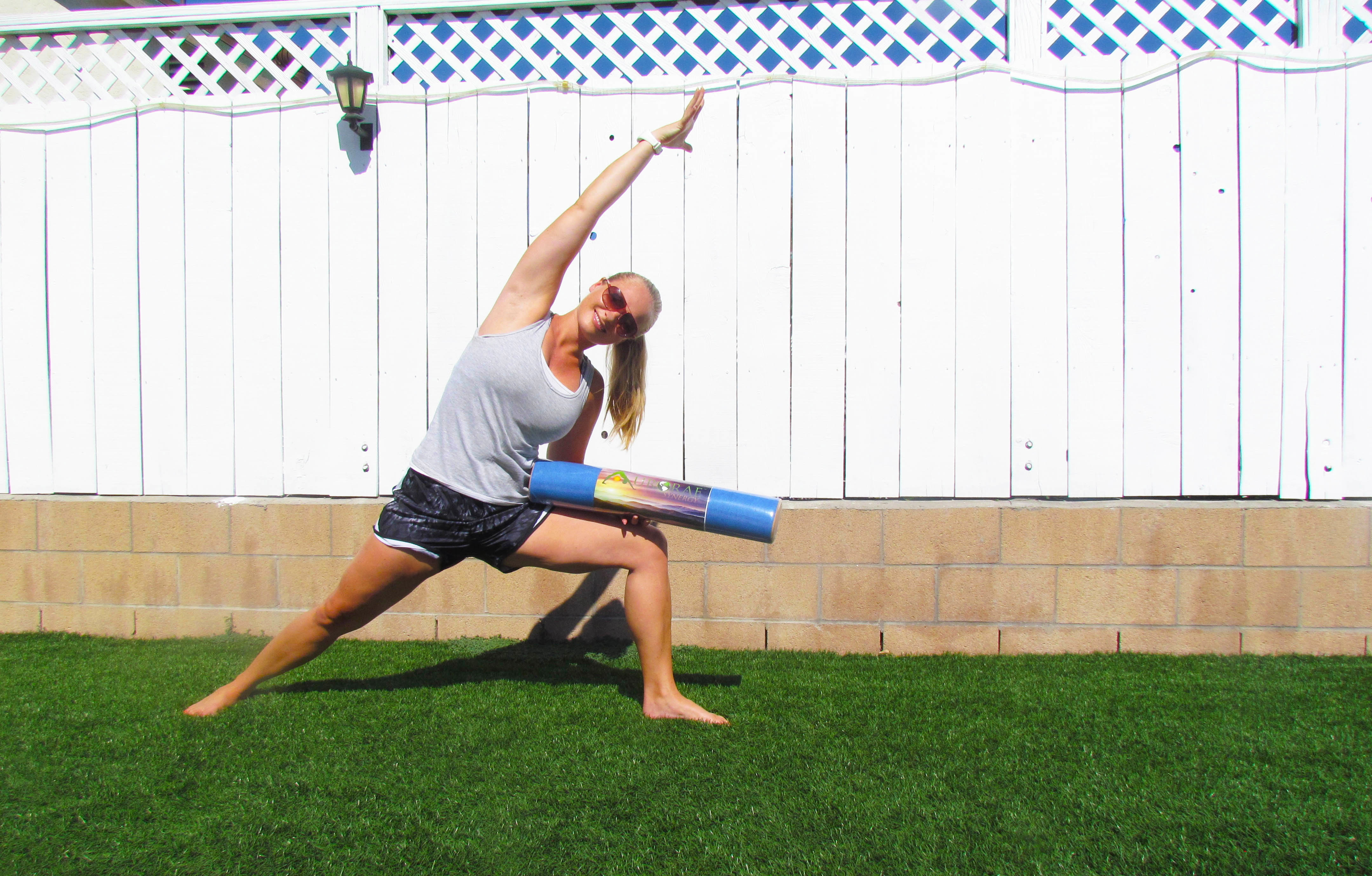 Aurorae Yoga Mat Towel Review Giveaway Foodie Loves Fitness