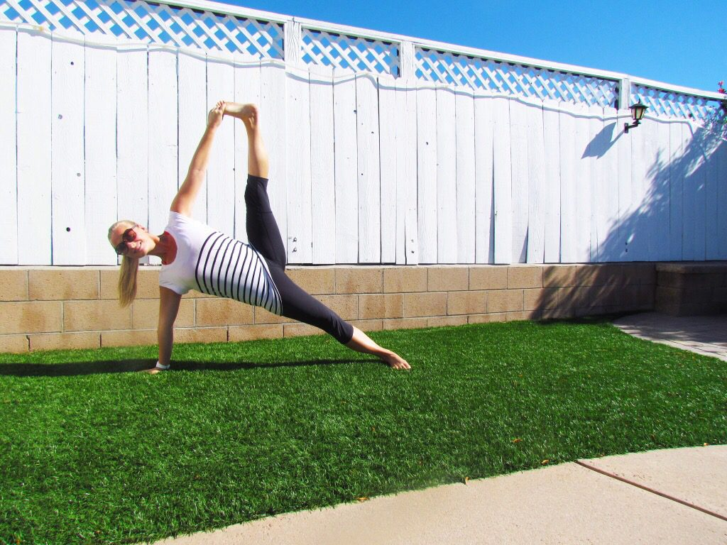 backyard side plank