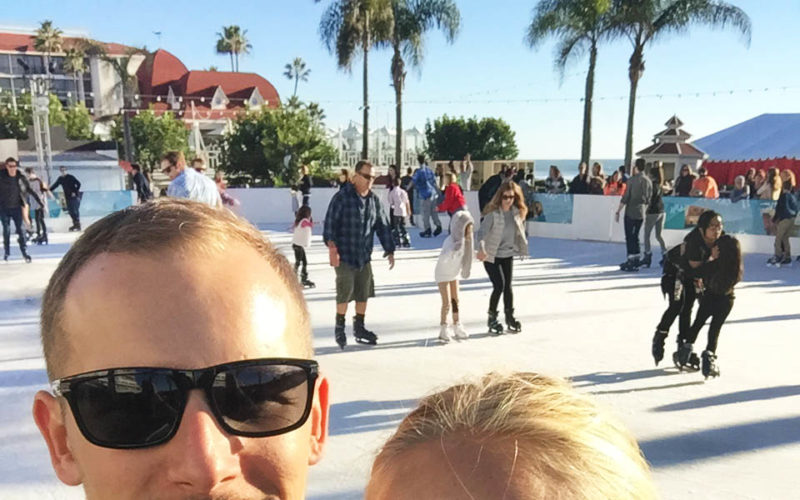 Ice Skating Along the Coast at Hotel Del Coronado + Dinner at Il Fornaio