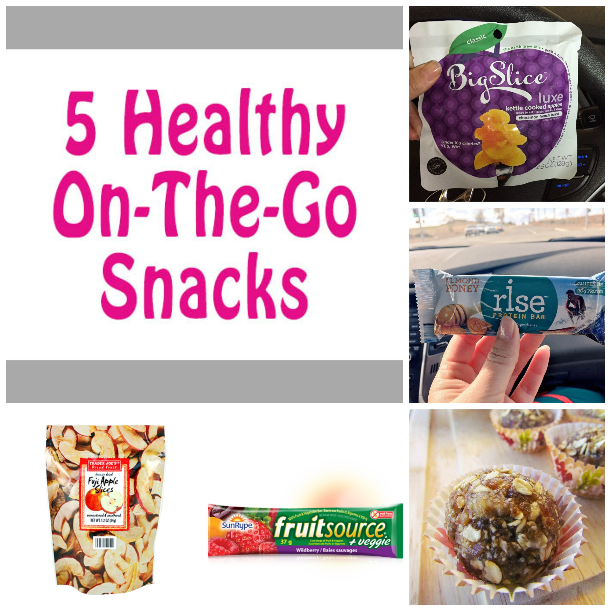 Healthy Snacks Collage