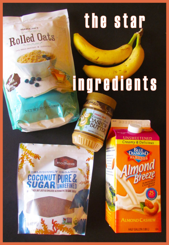cashew butter muffin ingredients