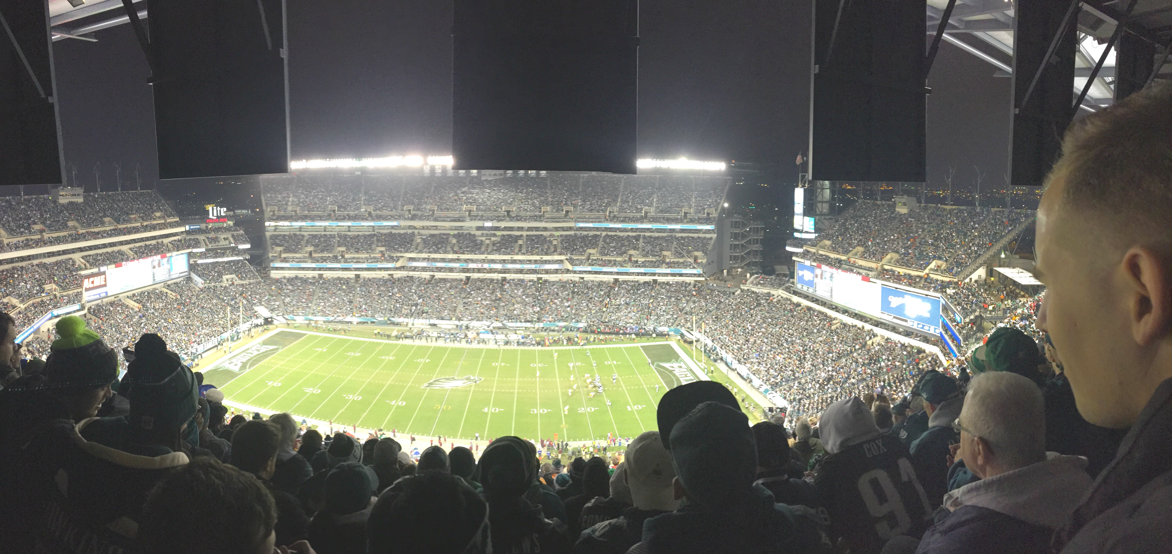 Eagles vs Redskins game
