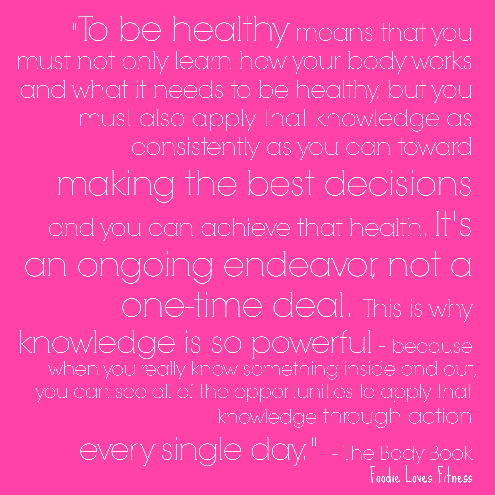 To Be Healthy - quote