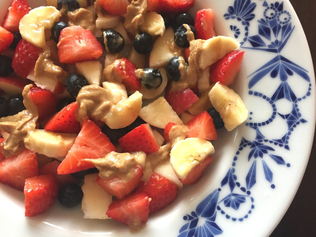 fruit & cashew butter bowl