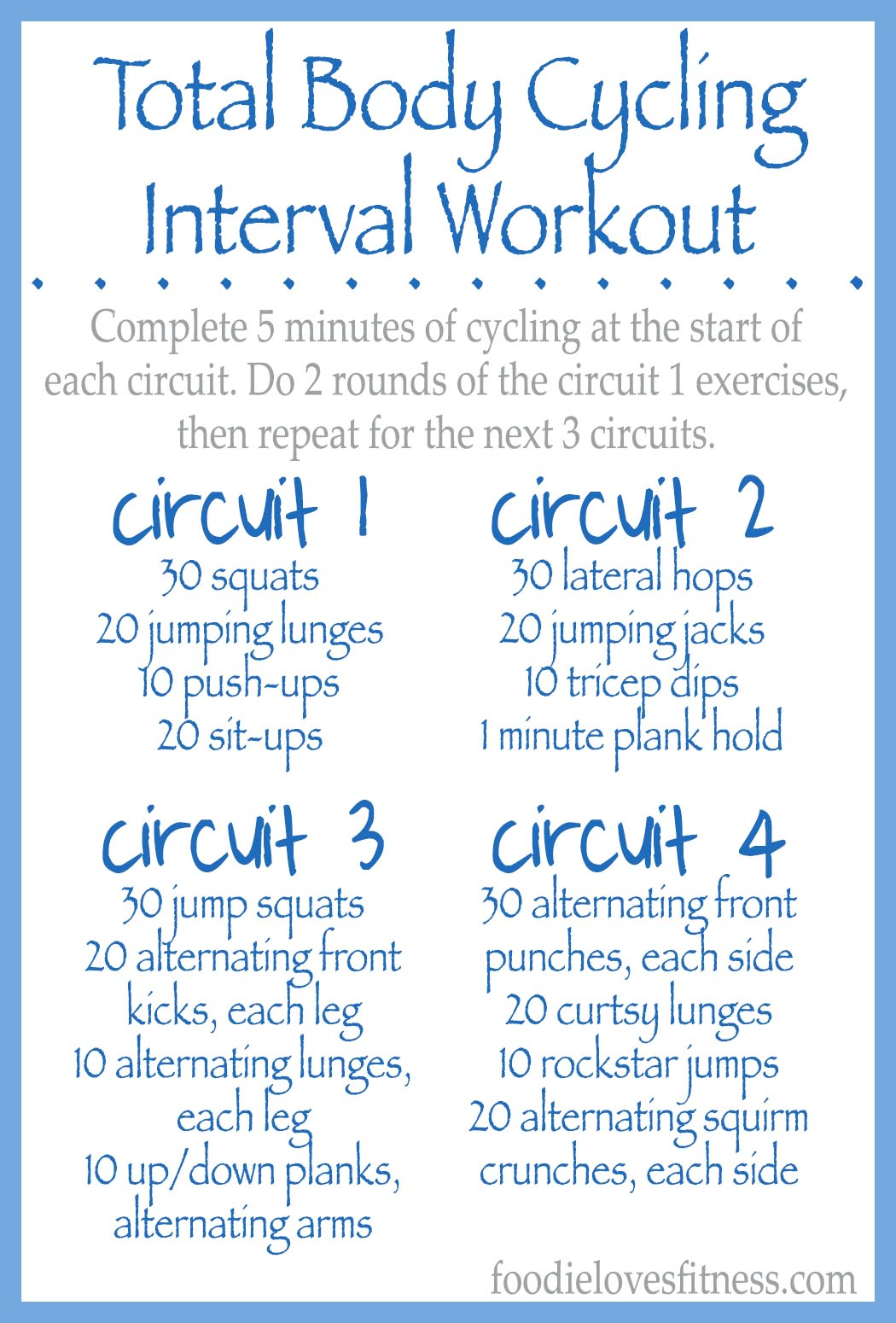 Total Body Cycling Circuit Workout