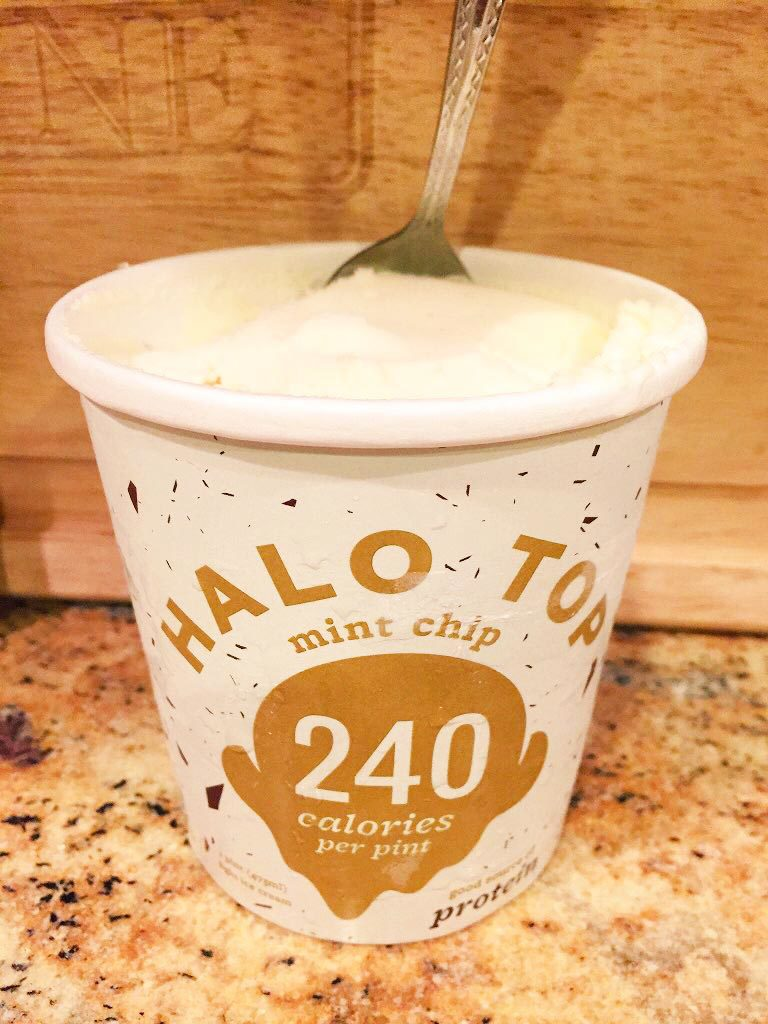 A go-to treat of mine: Halo Top protein ice cream. Tastes awesome & has 240 calories + 24 grams of protein in a whole pint!