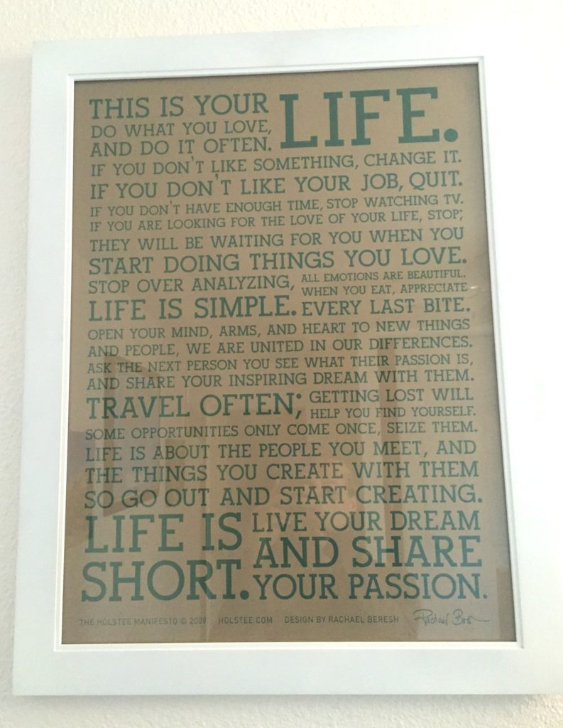 Workout Room-Holstee Manifesto
