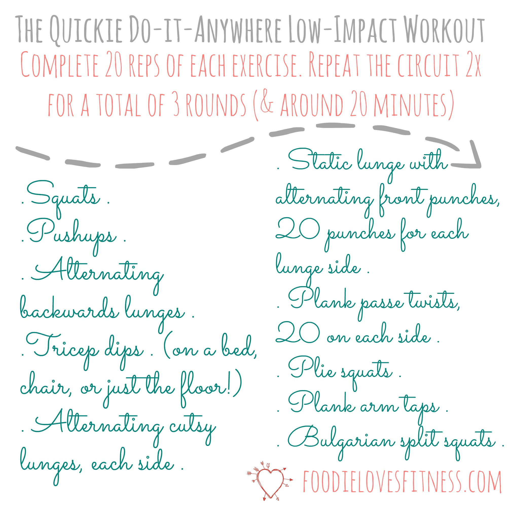 Quickie Low Impact Workout