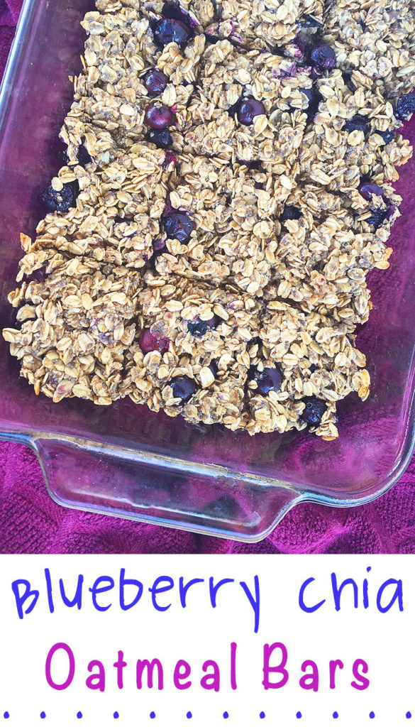 Blueberry Chia Oatmeal Bars