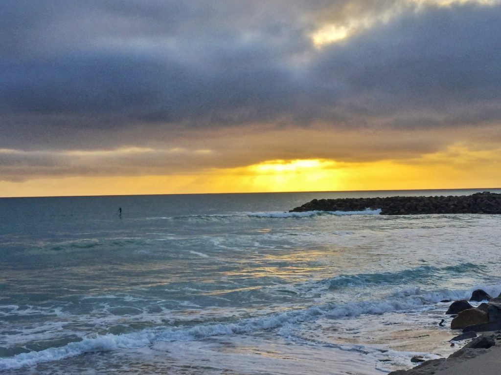 Carlsbad sunset-cloudy day April 16